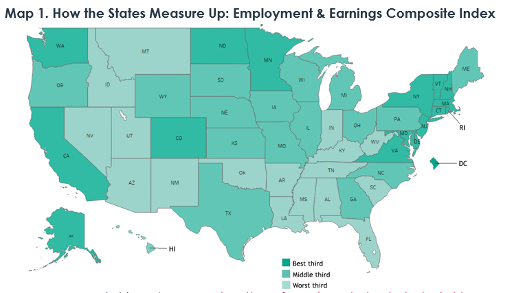 The Economic Status of Women in the States - IWPR 2020